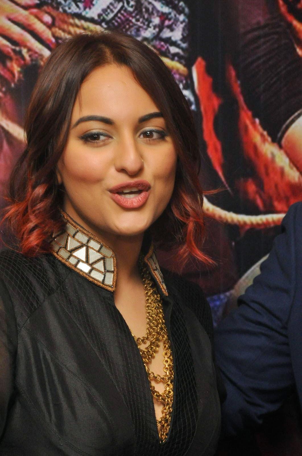 Sonakshi Sinha Latest Photos In Black Dress At Tevar Movie -7504