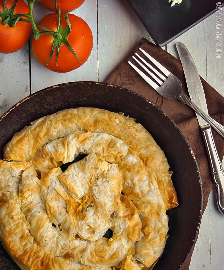 Recipe for Phyllo dough Potato Pie