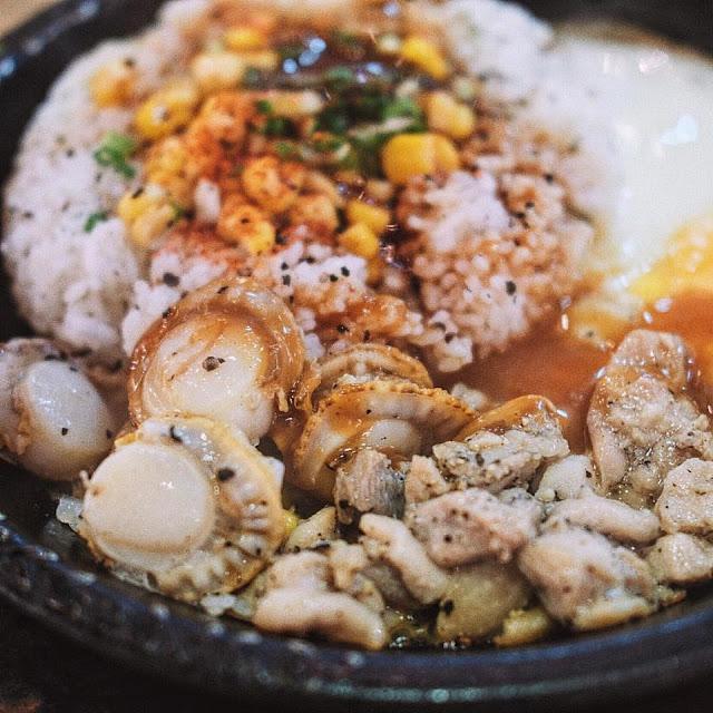 Scallops & Chicken BBQ Pepper Rice
