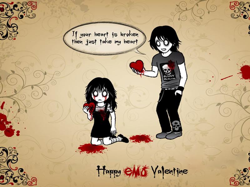 Cute Couple Emo Wallpapers Wallpaper Emo Love