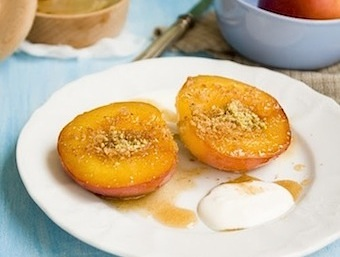 baked peaches with breadcrumbs recipe
