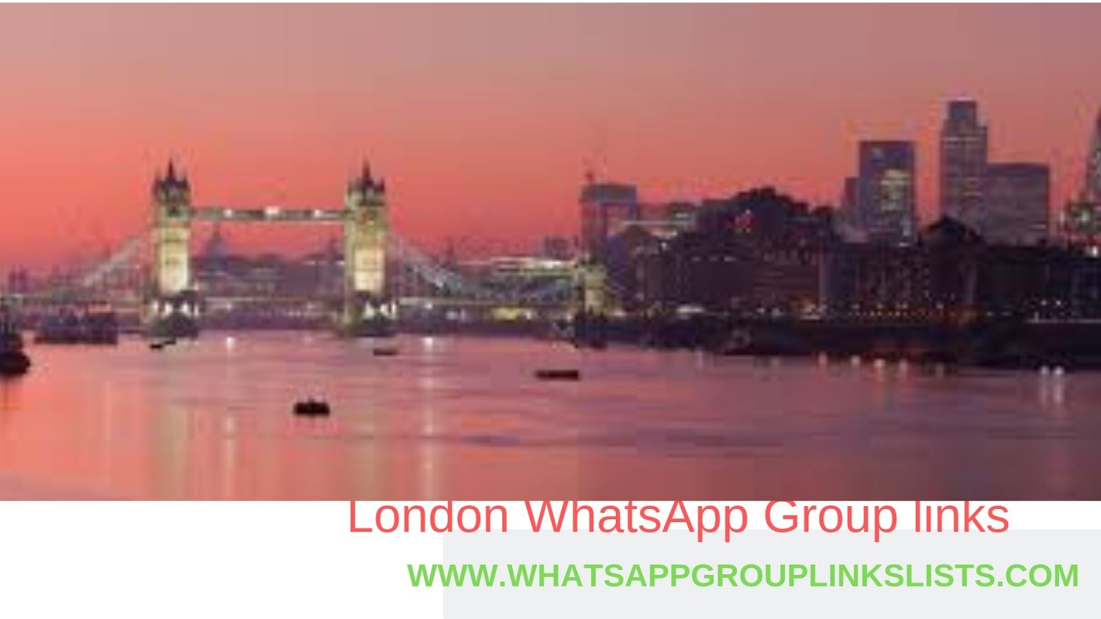 Join London WhatsApp Group Links List