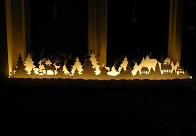 Como hacer un Belen de Siluetas con Luces de Navidad