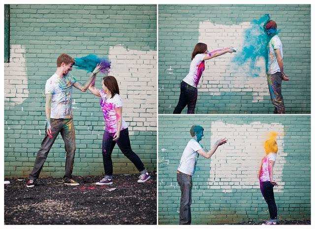 Como fazer pó colorido fotos Holi Powder