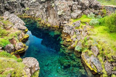 Silfra fissure in Thingvellir National Park, Iceland