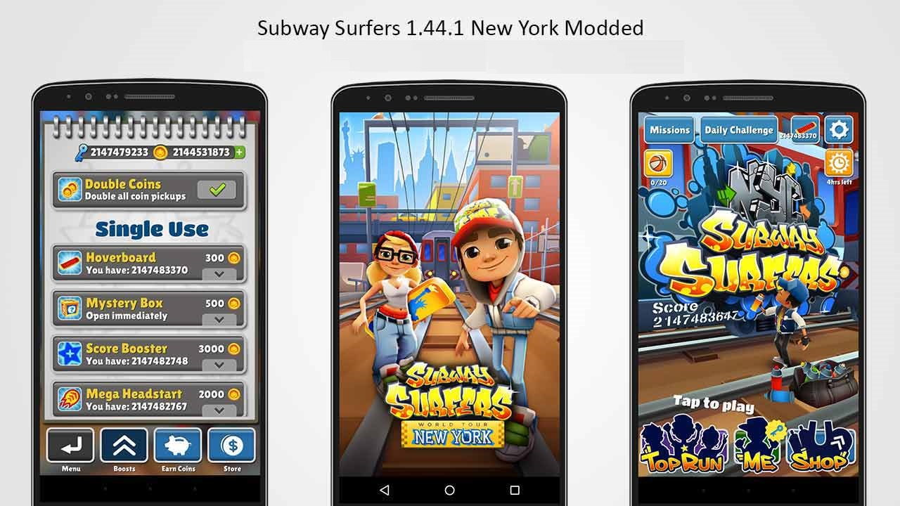 Subway Surfers 1 44 1 NYC New York USA 3 [MOD] Modded Android App