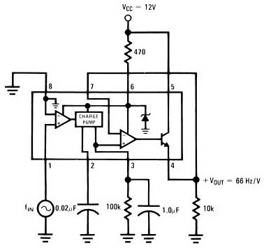 Frequency to Voltage Converter Circuit by using IC LM2917