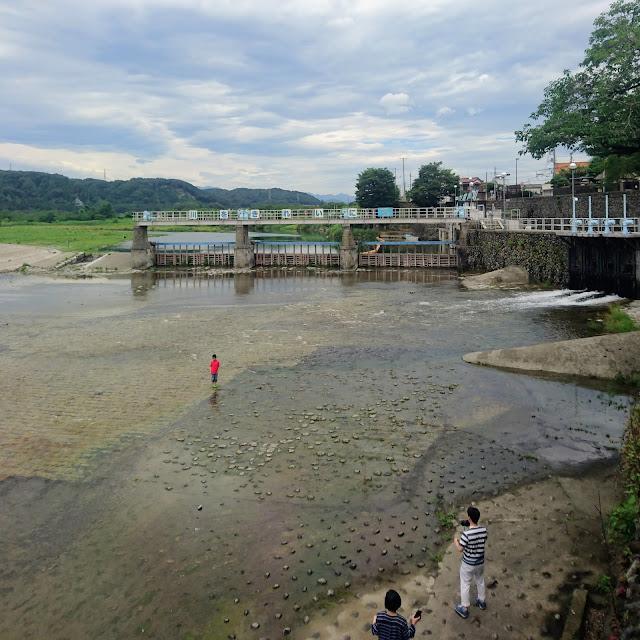 玉川上水の取水口 羽村の堰