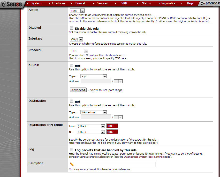 Access Pfsense Web configurator over WAN (the Internet)
