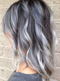 gray & platinum ombre