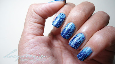 Lacqueerisa: Bleached Denim Nails