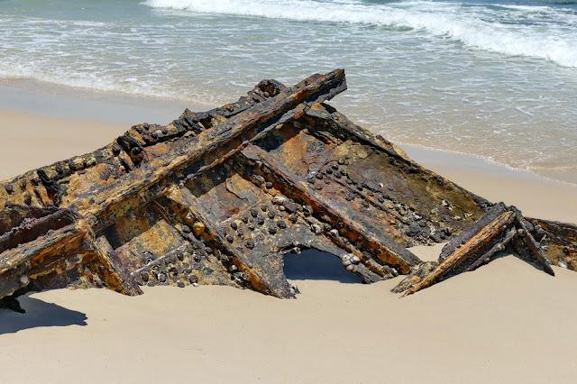 Bulwer Wrecks Schiffs-Wracks Strand Moreton Island Rost verrostet