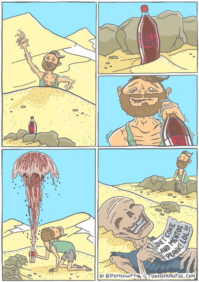 Diet Coke desert