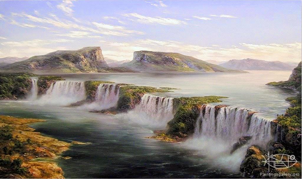 Cuadros modernos pinturas y dibujos cuadro de paisajes - Cuadros espectaculares modernos ...