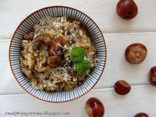 Jesienne risotto z grzybami leśnymi