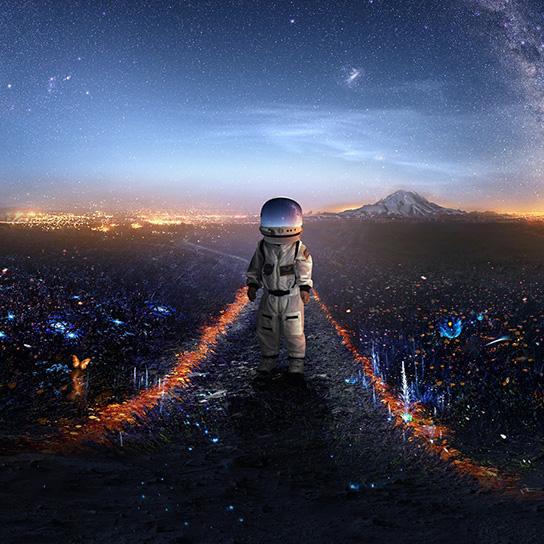 Men in Space Wallpaper Engine