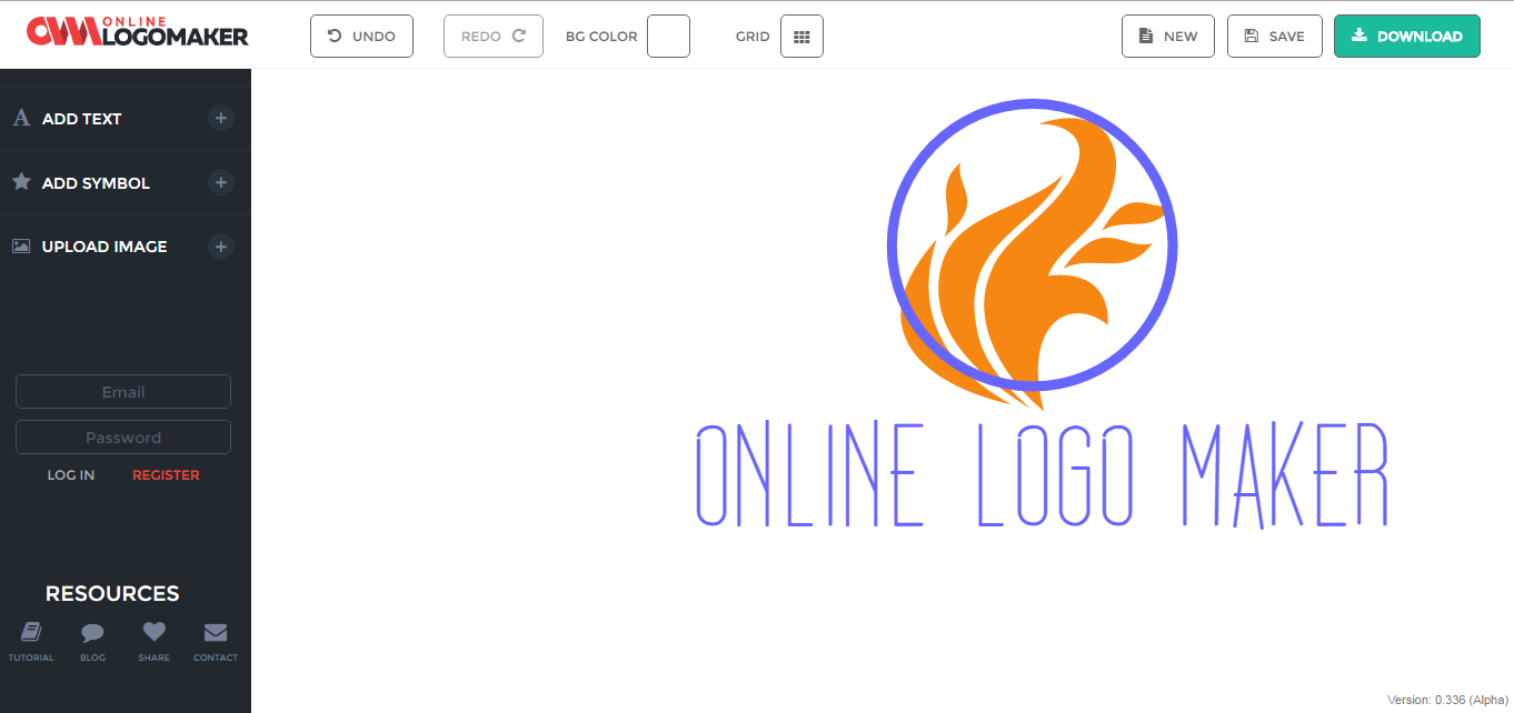 How to create a professional logo with onlinelogomaker the then clear the screen by select and deleting them after that you can see three options 1 add symbol there are buycottarizona Gallery
