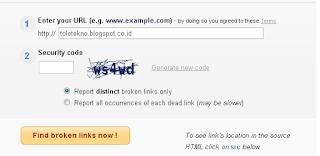 cara melihat link rusak pada blog