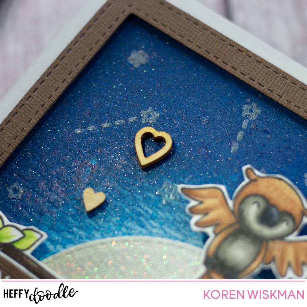 Koren Wiskman Heffy Doodle Glow In The Dark Background Card Video