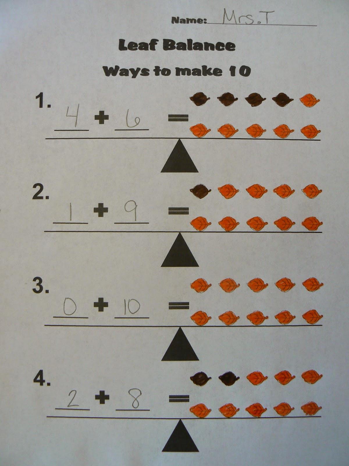 Leaf Pattern Worksheet Counting