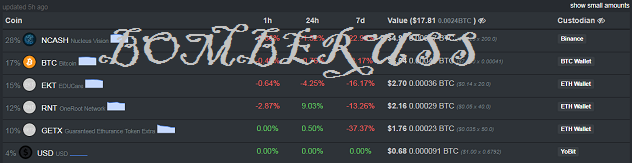 балансы бирж и кошельков