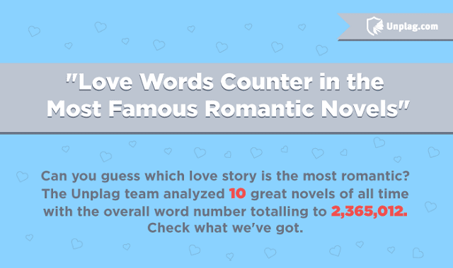 Love Words Counter in the Most Famous Romantic Novels