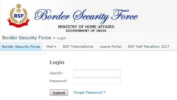 BSF pay slip download login