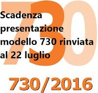 Scadenza presentazione modello 730 2016 prorogata