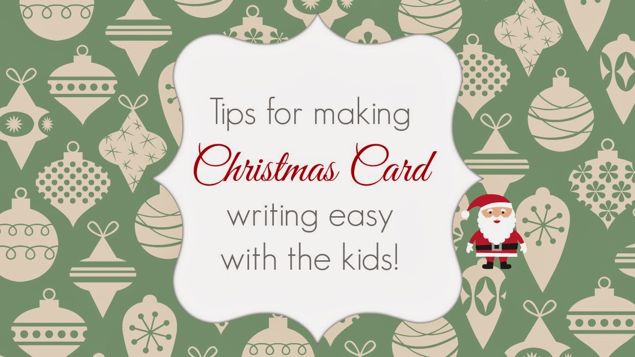 beautifully organised tips for making christmas card writing easy