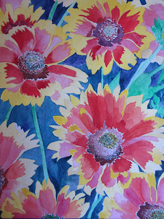 watercolor blanket flower