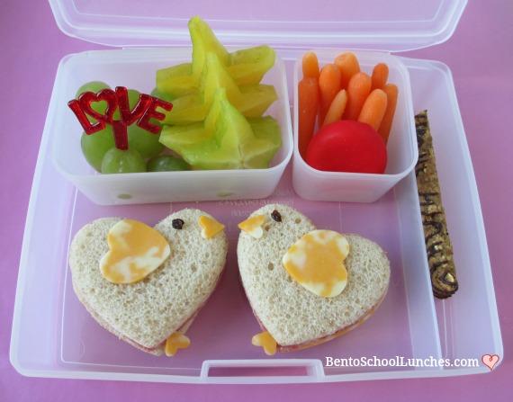 Valentine's Day Love Birds themed lunch