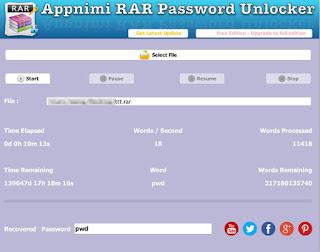 RAR Password Unlocker 3.0 Final FREE Download