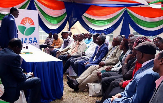 Raila Odinga in Kiambu. PHOTO | FILE