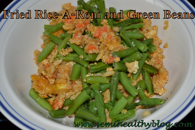 fried Rice-A-Roni and green beans