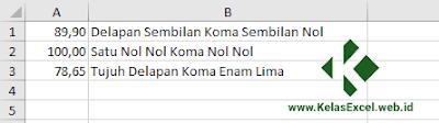 Rumus Terbilang Excel Angka ke Huruf