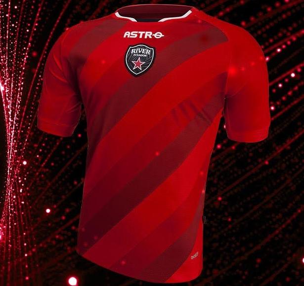 Astro divulga a nova camisa titular do River Equador - Show de Camisas 4fd14d8e4c450