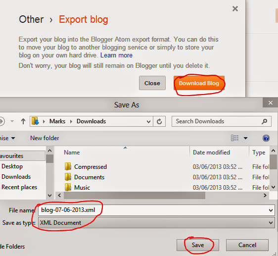 How to Download Blogger Blog