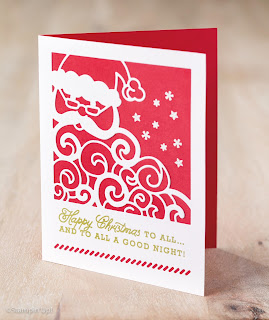 Stampin' Up! Detailed Santa Thinlit Christmas Card