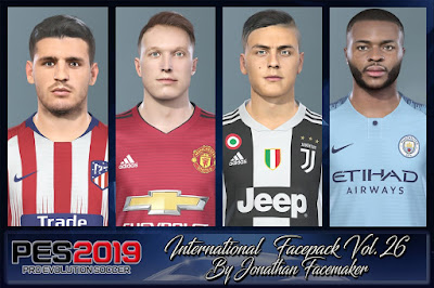PES 2019 Facepack International vol 26 by Jonathan Facemaker