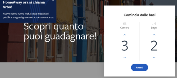 come iscriversi a Homeaway