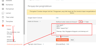 Setting Template AGK Blogspot