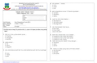 Soal UAS IPS KTSP Kelas 1 Semester 1
