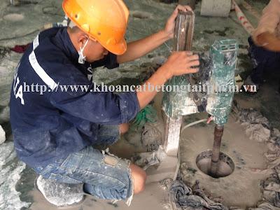 Khoan cắt bê tông tại huyện Ngọc Hiển