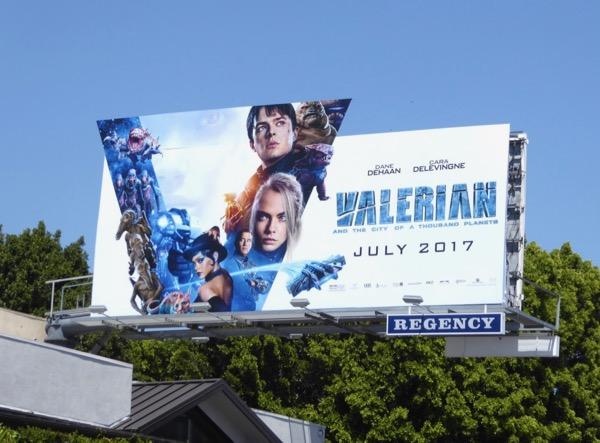 Valerian Thousand Planets movie billboard