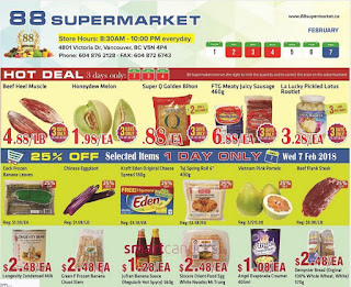 88 Supermarket Weekly Flyer February 1 to 7, 2018