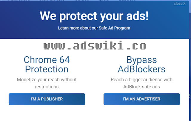 Chrome 64 protection and bypass adblocker ad network(adult)