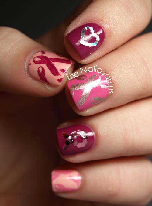 Breast Cancer Awareness Nail Art - The Nailasaurus | UK ...