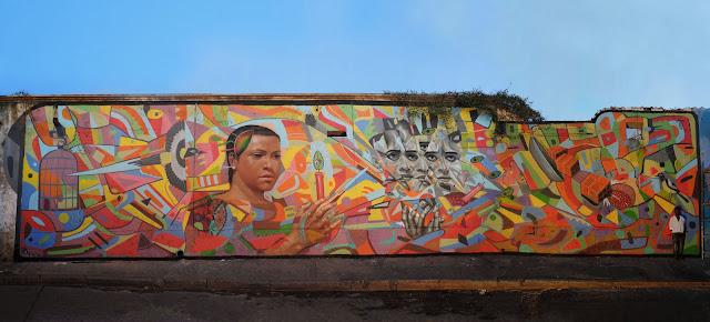 """""""Defender Lo Que Nos Queda"""" New Street Art Mural by Peruvian Artist El Decertor In Cartagena, Colombia. 1"""