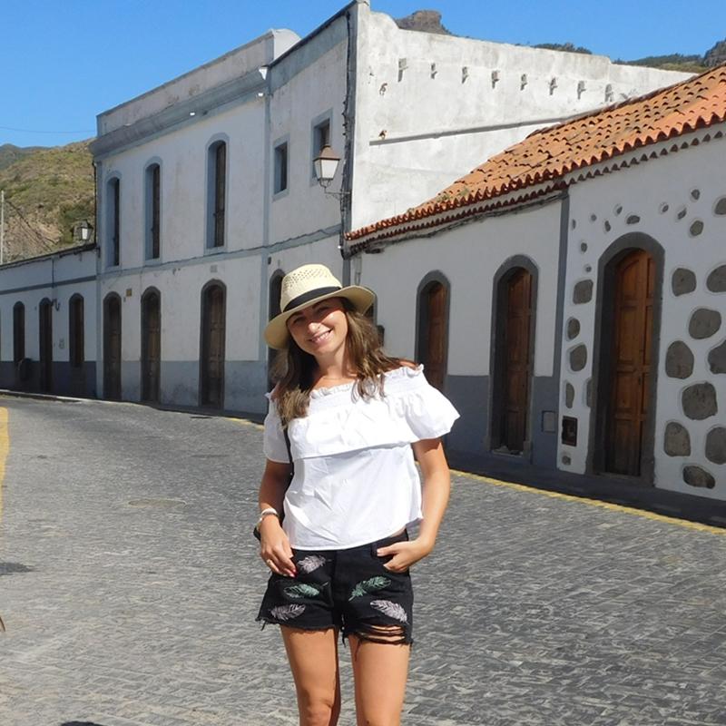 Szorty z piórkami i bluzka Hiszpanka-Gran Canaria c.d.