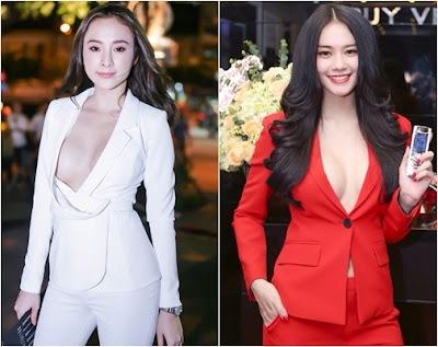 vest không nội y của Angela Phương Trinh và Linh Chi
